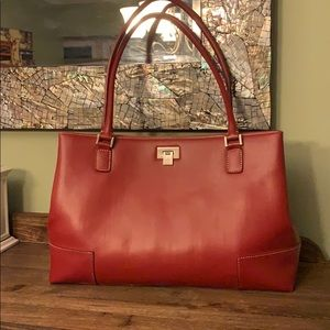 Liz Claiborne Large Red Tote Bag
